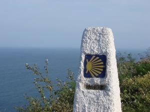 Finisterre, Spain, 0km Camino marker